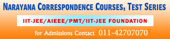 Notification Narayana correspondence course  Standyou.com